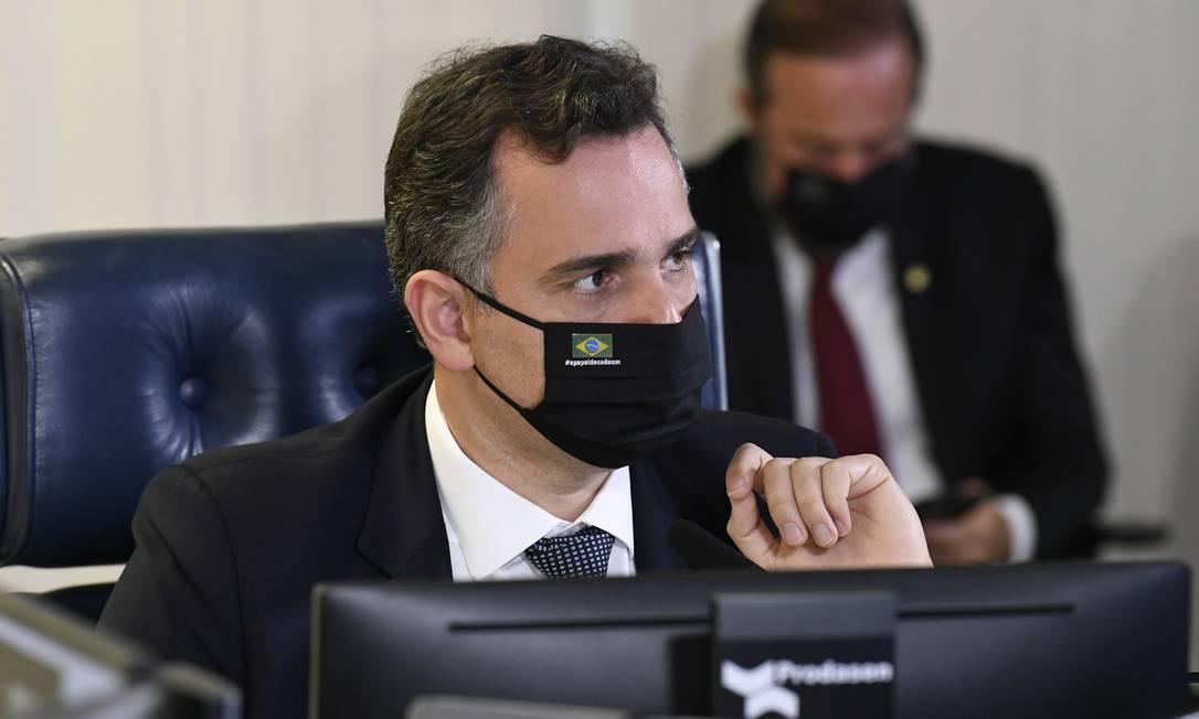 Presidente do Senado Federal, Rodrigo Pacheco (DEM-MG) 13/04/2021 Foto: Jefferson Rudy / Jefferson Rudy/Agência Senado