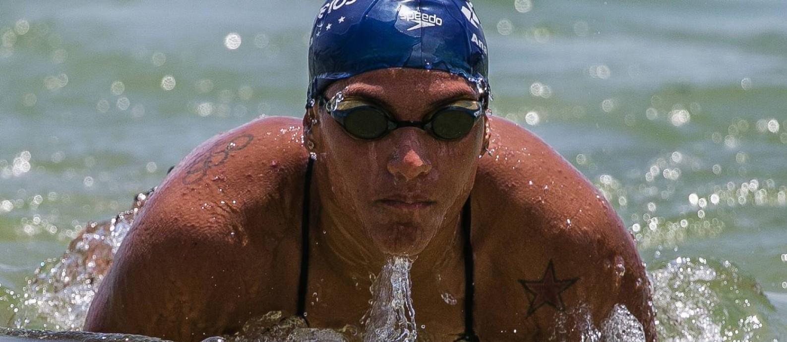 Ana Marcela Cunha é uma das apostas brasileiras para medalha nos Jogos de Tóquio Foto: Gustavo Oliveira/Divulgação