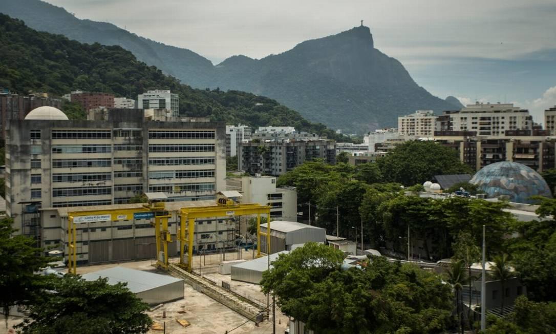 O canteiro de obras da Linha 4 do metr?, na Gávea Foto: Guito Moreto em 11/02/2021 / Agência O Globo