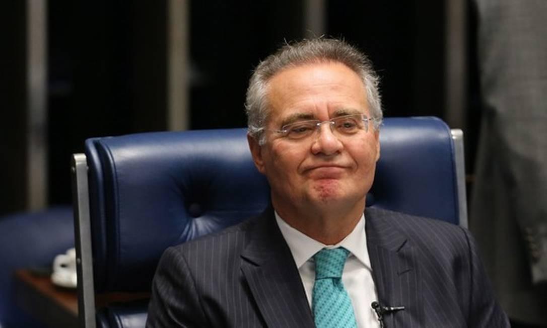 O senador Renan Calheiros Foto: Ailton de Freitas/ Agência O Globo