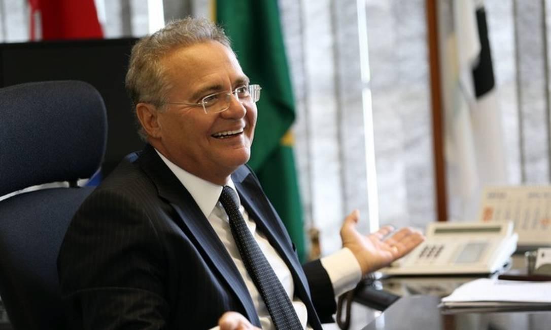 Senador Renan Calheiros (MDB-AL) Foto: Givaldo Barbosa/Agência O Globo