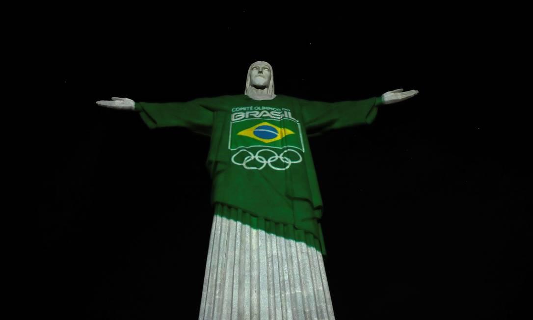 Ação foi promovida pelo Comitê Olímpico do Brasil (COB) Foto: RICARDO MORAES / REUTERS