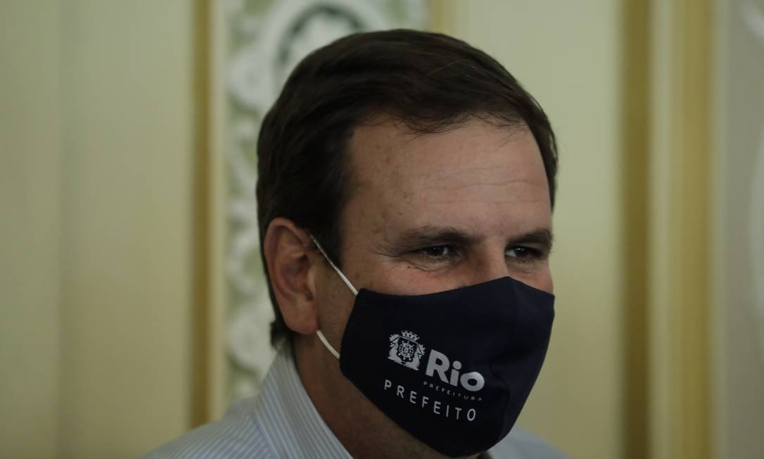 O prefeito Eduardo Paes pegou pela segunda vez Covid-19 Foto: Gabriel de Paiva / Agência O Globo