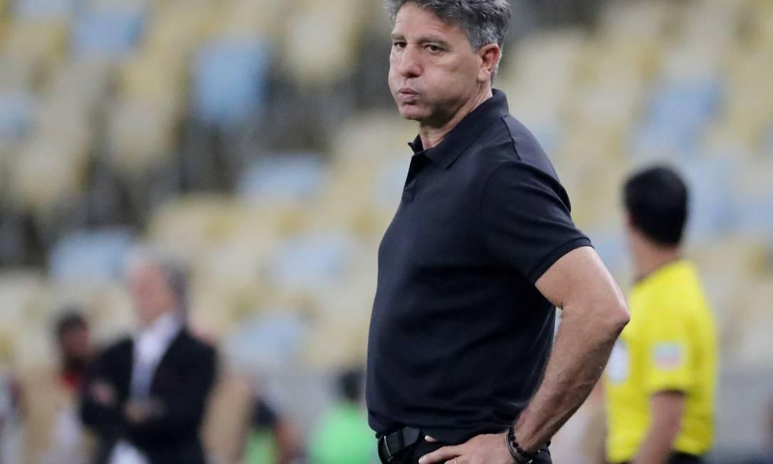 Portaluppi carrega o títulono futebolde treinador que ficou mais tempo à frente de um clube de elite Foto: SERGIO MORAES / Reuters