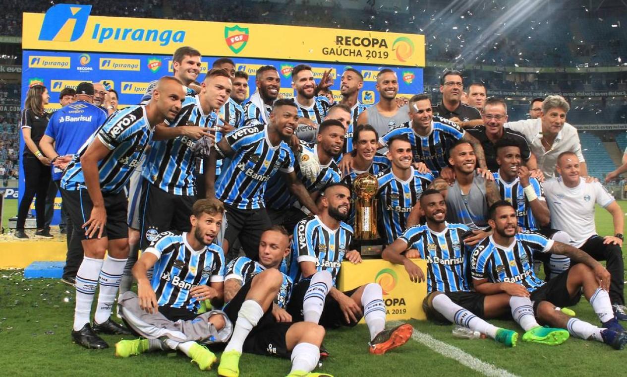 Com uma goleada de 6 a 0 sobre o Avenida, Renato Gaúcho conquistou, em 2019, a Recopa Gaúcha Foto: Max Peixoto / DiaEsportivo