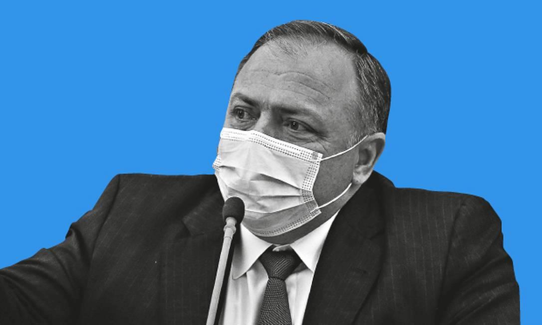 o ex-ministro da Saúde, Eduardo Pazuello Foto: Editoria de Arte