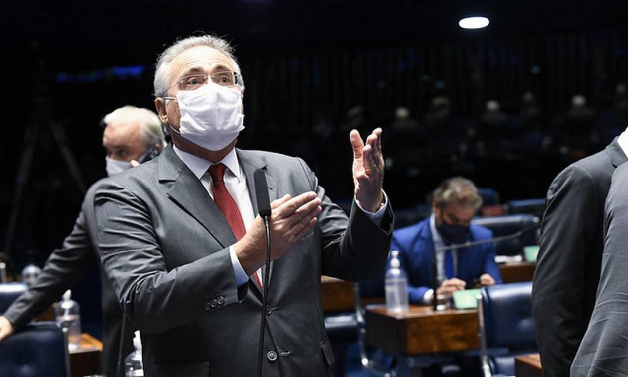 Crítico a Bolsonaro, o senador Renan Calheiros (MDB-AL) será o relator Foto: Jefferson Rudy/Agência Senado