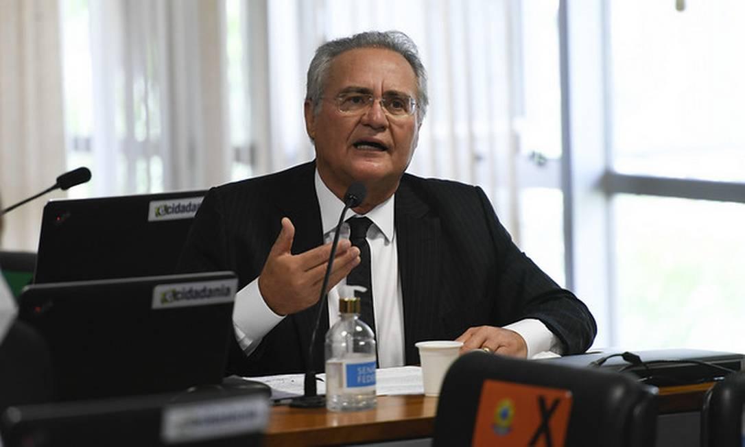 O senador Renan Calheiros (MDB-AL) 21/10/2020 Foto: Edilson Rodrigues/Agência Senado