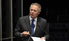 O senador Renan Calheiros Foto: Givaldo Barboza / Agência O Globo