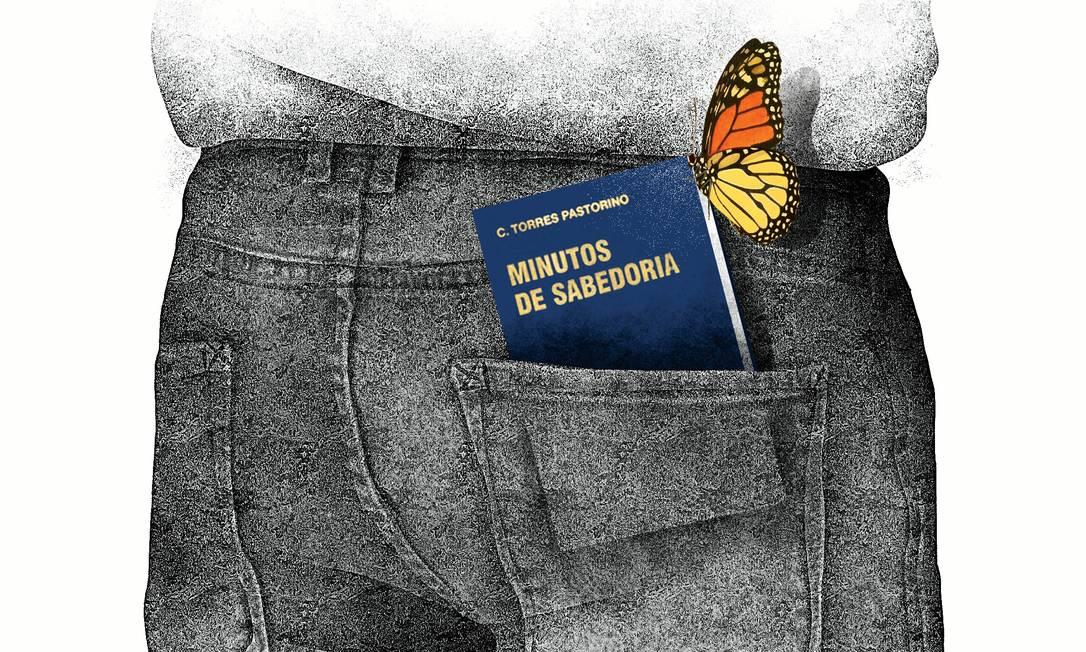 O livro de bolso 'Minutos de sabedoria' Foto: Arte de André Mello