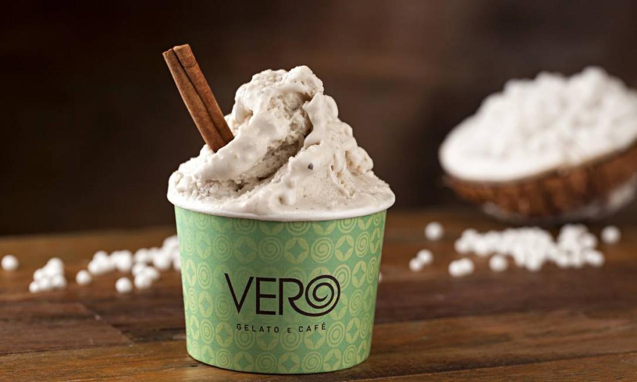 O sorvete da Vero pode variar de R$ 9 a R$ 23, pelo 3497-8754. Foto: Divulgação / Rodrigo Azevedo