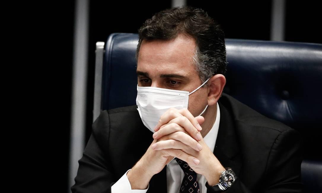 O presidente do Senado, Rodrigo Pacheco Foto: Pablo Jacob / Agência O Globo