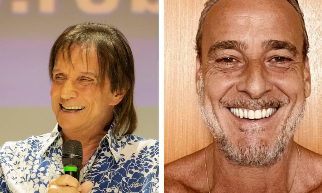 O cantor Roberto Carlos e o ator Alexandre Borges Foto: Colagem de fotos de divugação