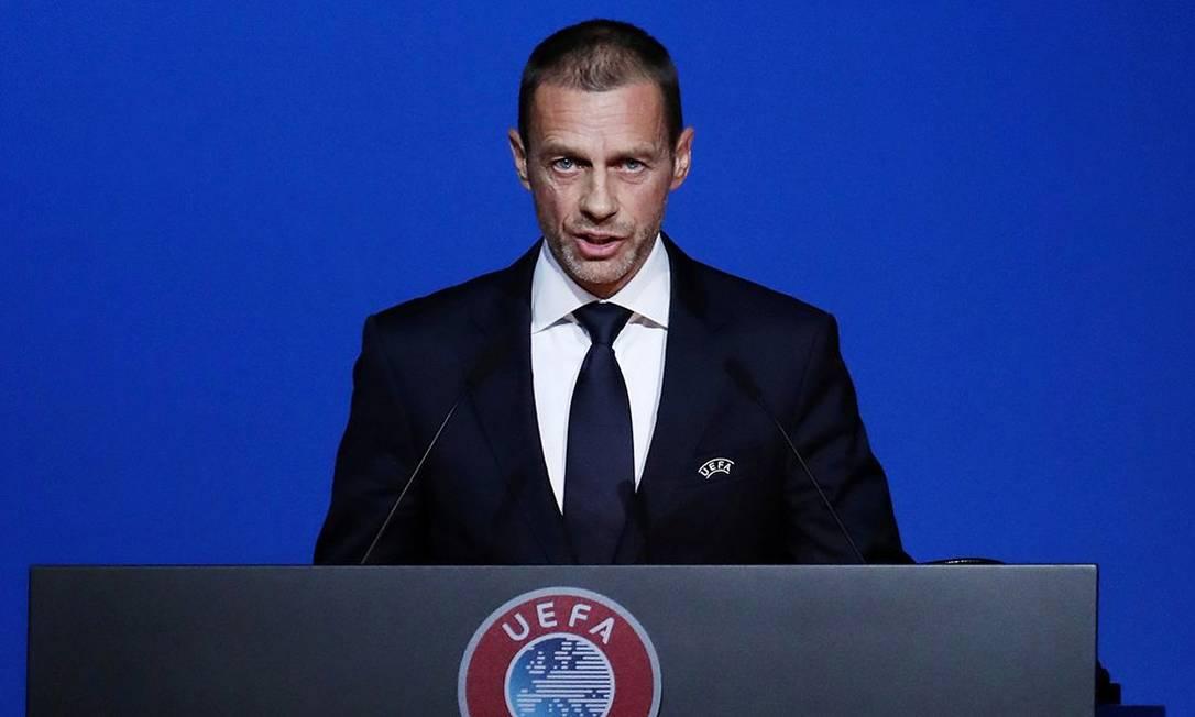 Aleksander Ceferin, presidente da Uefa Foto: Yves Herman / Reuters