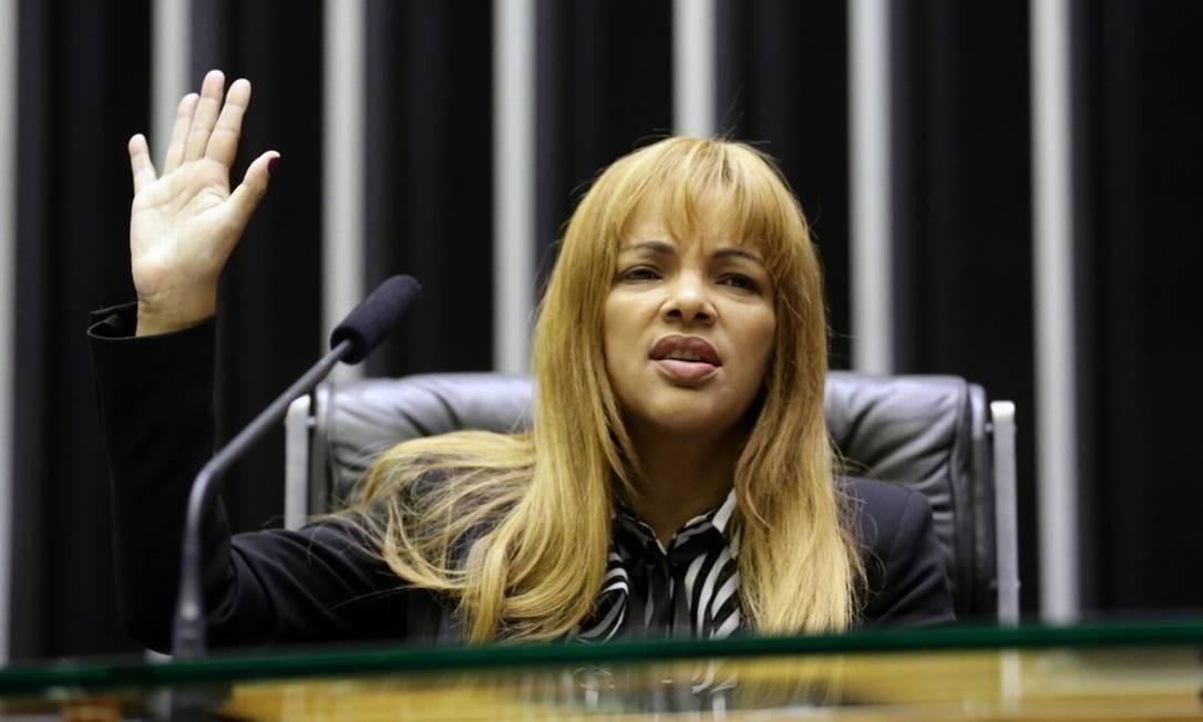 Flordelis durante sessão na Câmara dos Deputados Foto: Agência O Globo