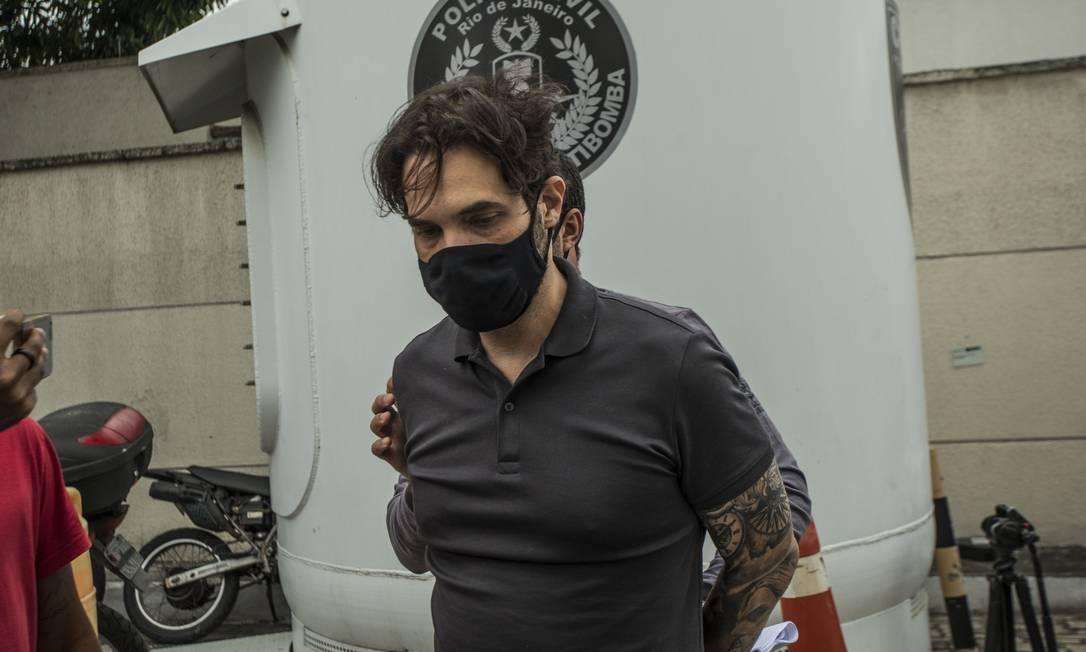 Dr. Jairinho, após ser preso Foto: Guito Moreto / Agência O Globo / 08-04-2021