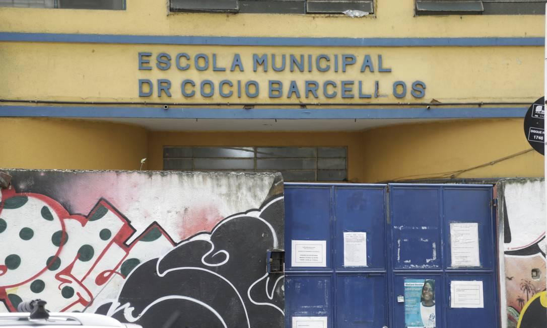 Escola Municipal Doutor Cocio Barcellos, em Copacabana Foto: Gabriel de Paiva / O Globo - 17.11.2020