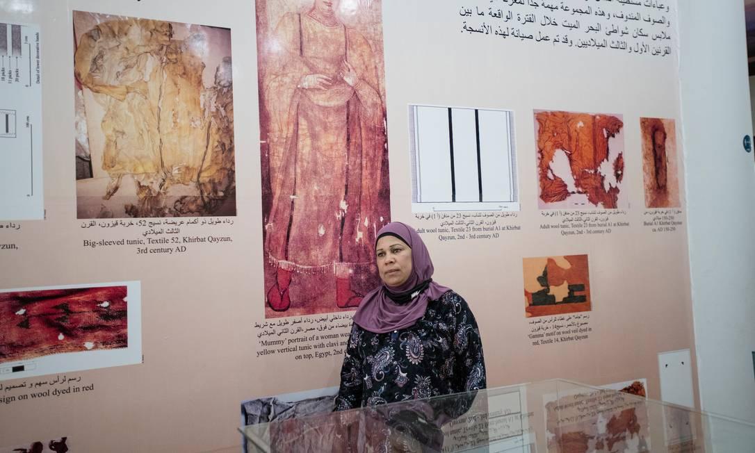 Jamileh Shetewi, diretora do Departamento de Antiguidades da região do Vale do Jordão. Nos últimos dez anos, a Jordânia país tem tido os piores resultados no relatório sobre desigualdade de gênero do Fórum econômico Mundial Foto: NADIA BSEISO / NYT