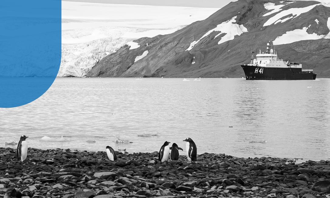 Aquecimento Global e os impactos na Antartica. Foto: Elcio Braga Foto: Élcio Braga/Agência O Globo