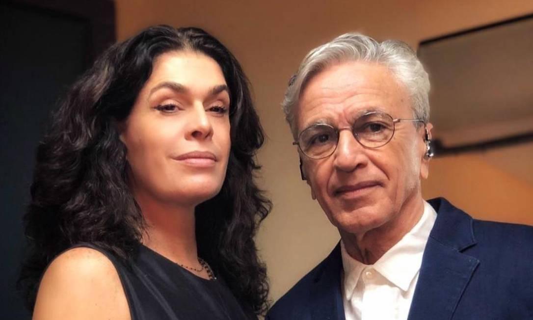 Caetano Veloso e Paula Lavigne Foto: Reprodução