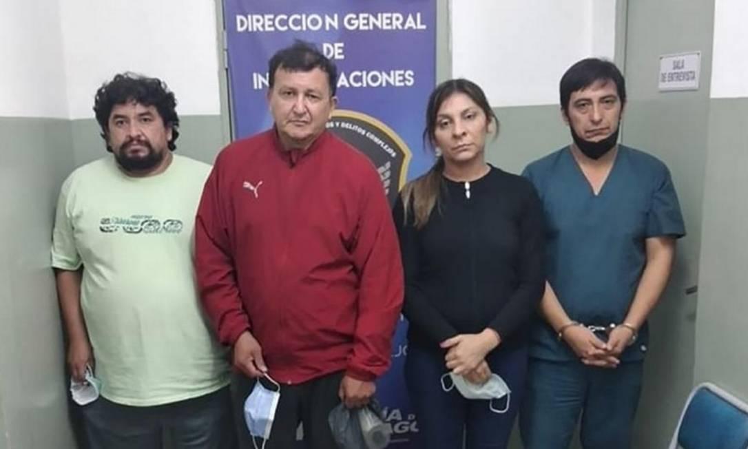 Quatro pessoas foram presas na clínica clandestina de vacinação Foto: Divulgação