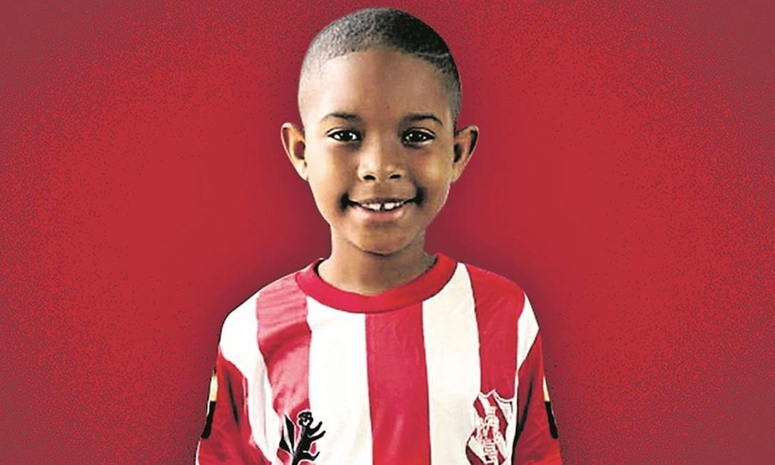 Kaio Guilherme da Silva Baraúna, de 8 anos Foto: Reprodução