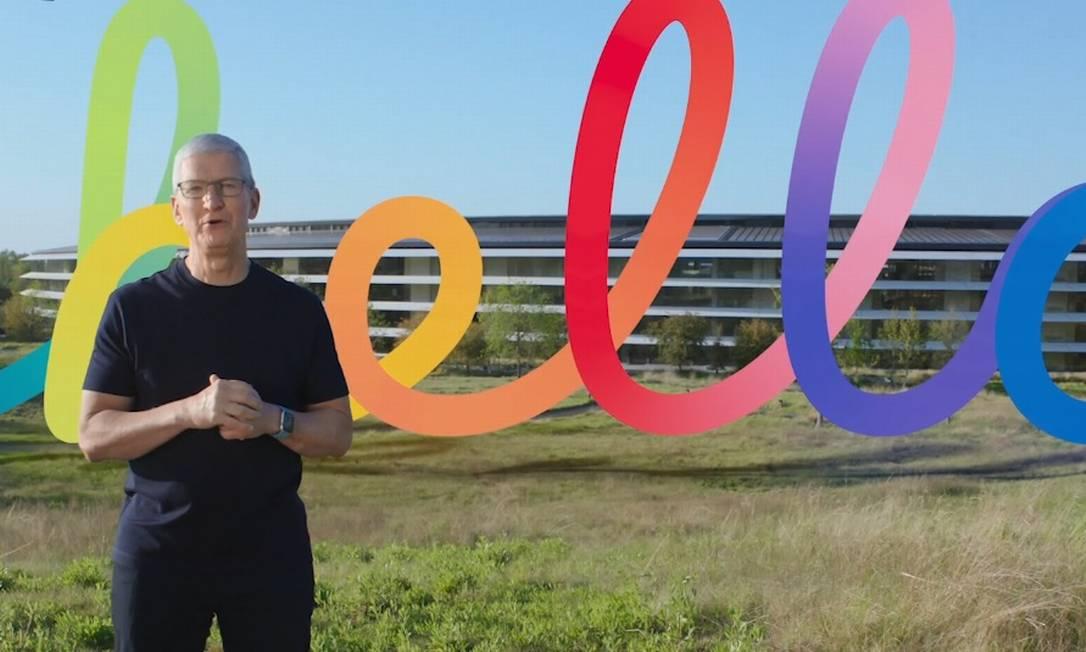 Tim Cook apresenta novidades da Apple Foto: Reprodução/Bruno Rosa