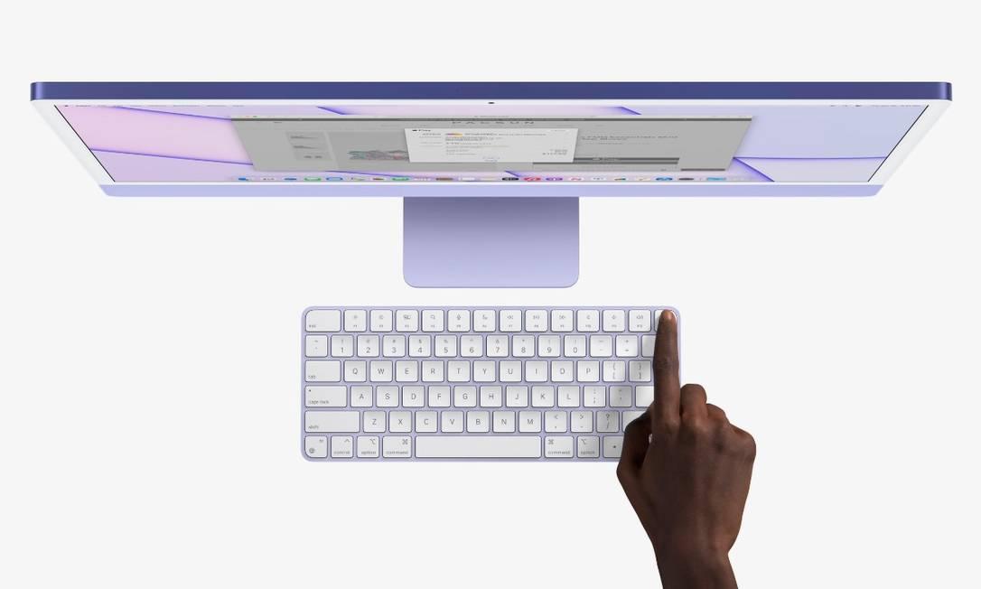 Apple lança teclado com reconhecimento de digital. A intenção é tornar mais fácil fazer login com segurança e compras. Foto: Divulgação
