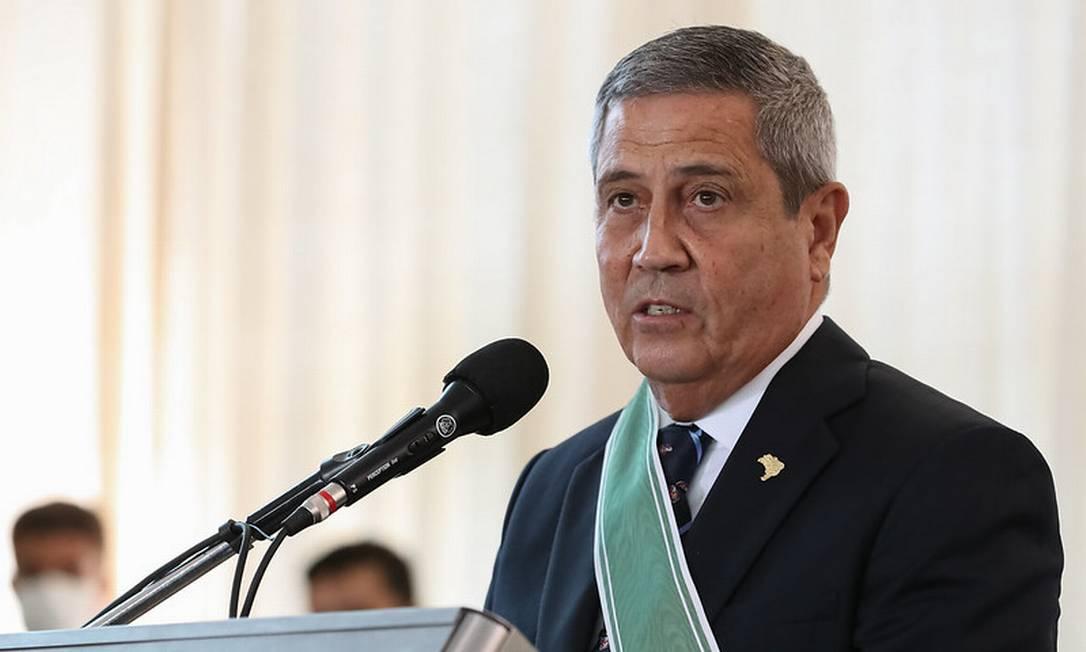 Braga Netto diz ser preciso respeitar 'projeto escolhido pela maioria' Foto: Marcos Correa / Divulgação