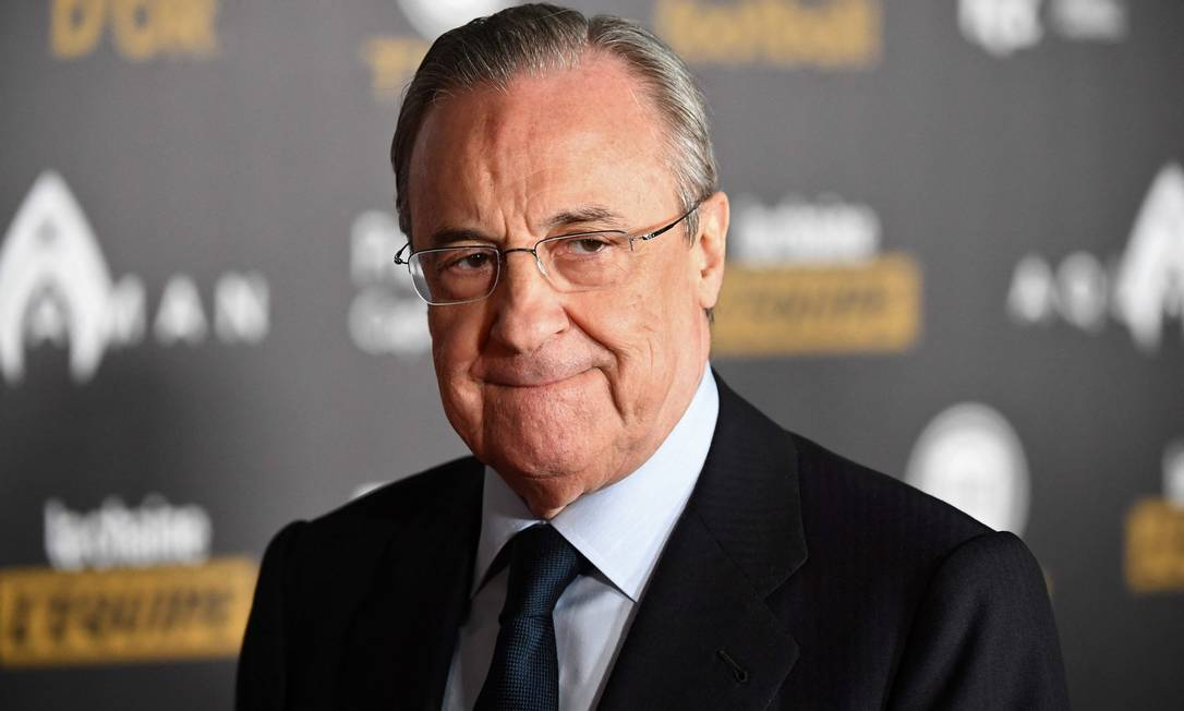 Florentino Pérez, presidente do Real Madrid e da Superliga Foto: FRANCK FIFE / AFP