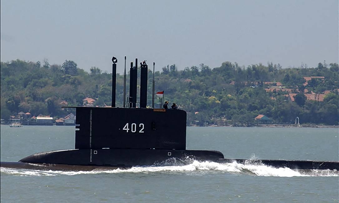 Buscas pelo submarino começaram nesta quarta-feira Foto: HANDOUT / AFP