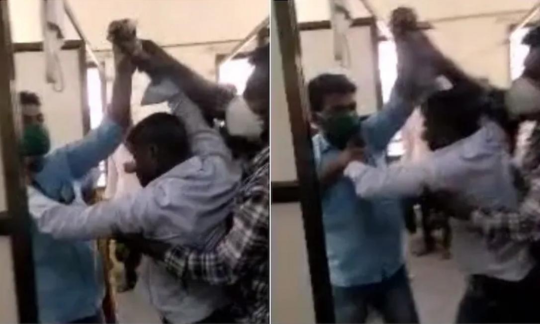 Familiar de paciente com Covid ataca médico com faca na Índia Foto: Reprodução