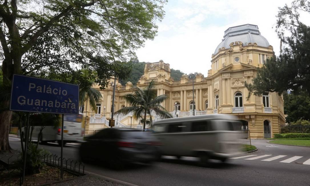 Palácio Guanabara, sede do governo do estado Foto: Fabiano Rocha / Agência O Globo