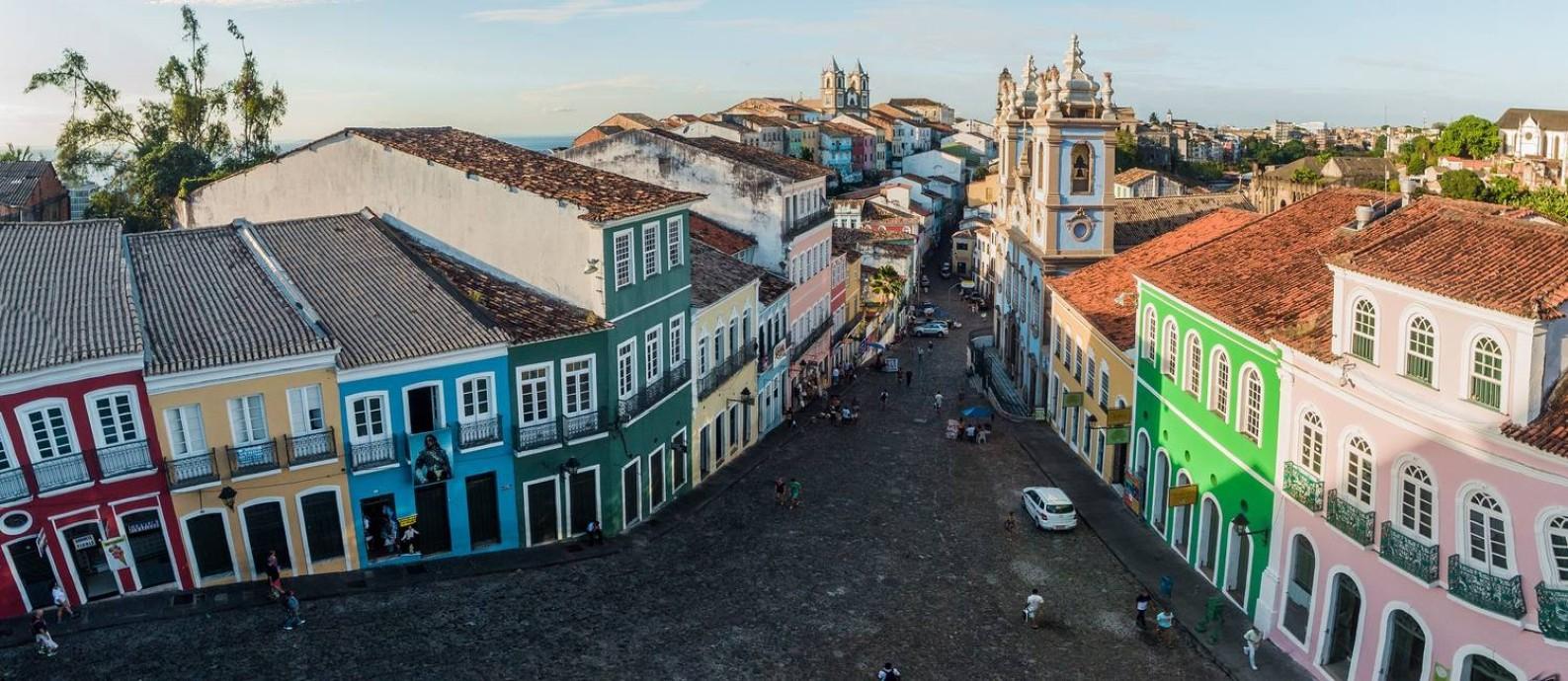 Com atrativos como o Pelourinho, Salvador foi a cidade mais vendida pelas operadoras afiliadas à Braztoa em 2020 Foto: Márcio Filho / Ministério do Turismo / Divulgação