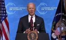Joe Biden discursa na Cúpula do Clima Foto: Reprodução