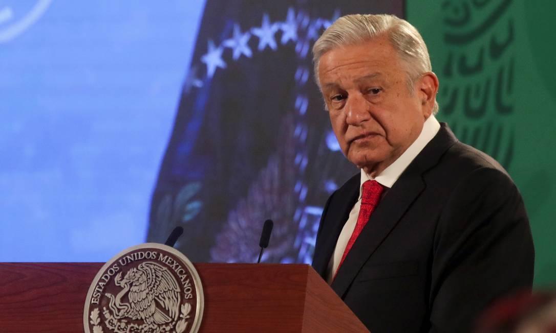 O presidente do México, Andrés Manuel López Obrador, aproveitou sua participação na cúpula para propor ao governo de Joe Biden uma parceria que una combate ao aquecimento global com migração Foto: HENRY ROMERO / REUTERS