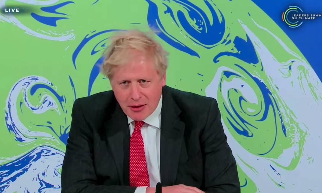 Boris Johson, primeiro-ministro do Reino Unido, defendeu maior empenho das nações desenvolvidas Foto: Reprodução