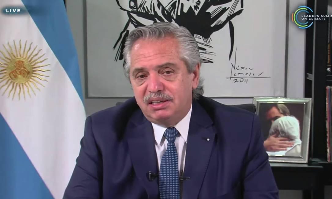 Alberto Fernández, presidente da Argentina, comprometeu-se com o desmatamento ilegal Foto: Reprodução