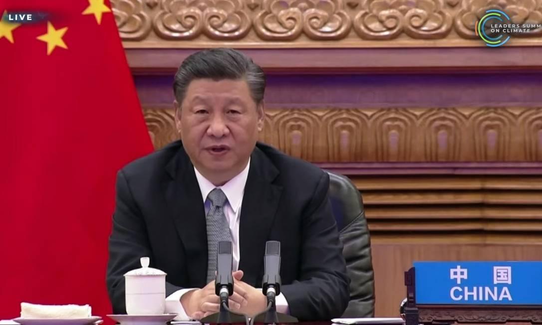 Xi Jinping, presidente da China, promete neutralidade do carbono até 2060 Foto: Reprodução