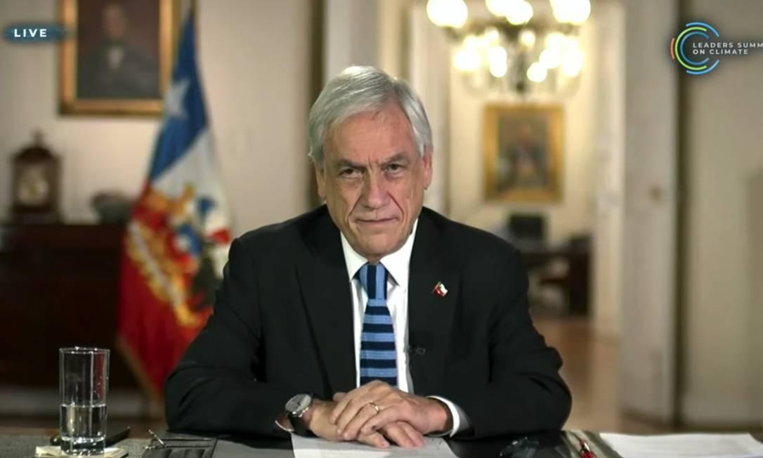 """O presidente do Chile, Sebastián Piñera, anunciou iniciativas para aumentar a proteção dos oceanos, inclusive na região Antártica, e afirmou que seu país está """"virando netro em matéria de emissões de carbono"""", apenar de representar apenas 0,25% das emissões totais do planeta Foto: Reproduçãopin"""