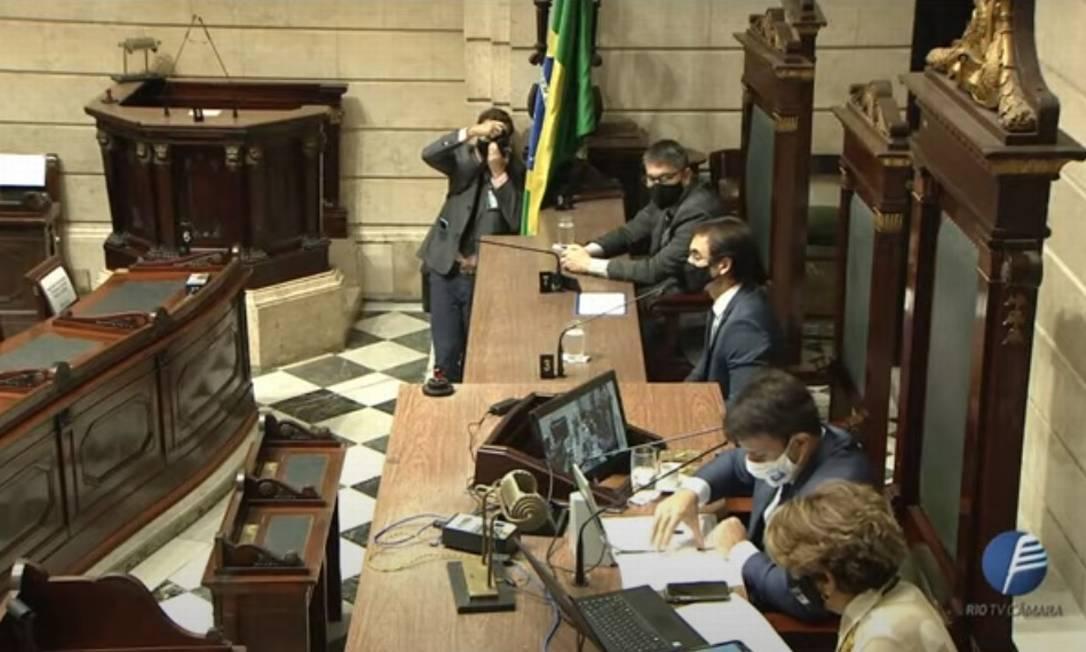 Indicado Bruno Maia de Carvalho é sabatinado na Câmara Foto: Reprodução