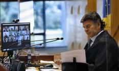 Fux preside sessão para julgar suspeição de Moro em processo de Lula 22/04/2021 Foto: Rosinei Coutinho/SCO/STF