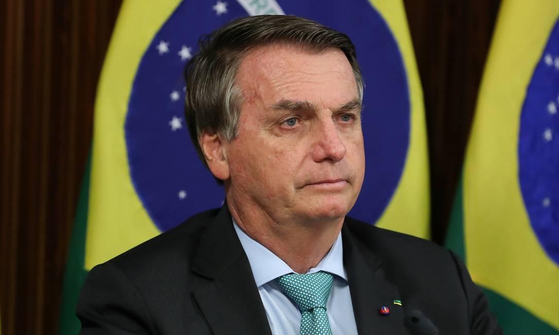O presidente Jair Bolsonaro durante participação na Cúpula de Líderes sobre o Clima Foto: MARCOS CORREA/BRAZILIAN PRESIDEN / Via REUTERS