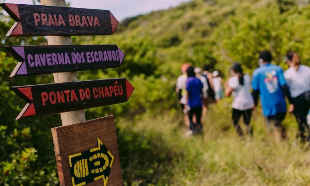 Com sete quilômetros, primeiro trecho da trilha Trans Cabo Frio foi inaugurado na região da Boca da Barra Foto: Divulgação