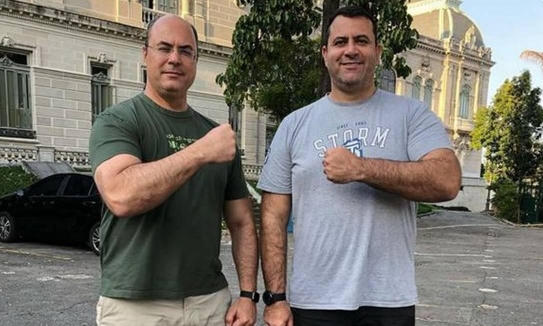Witzel com o irmão, o sargento Douglas Renê Foto: Reprodução/Instagram
