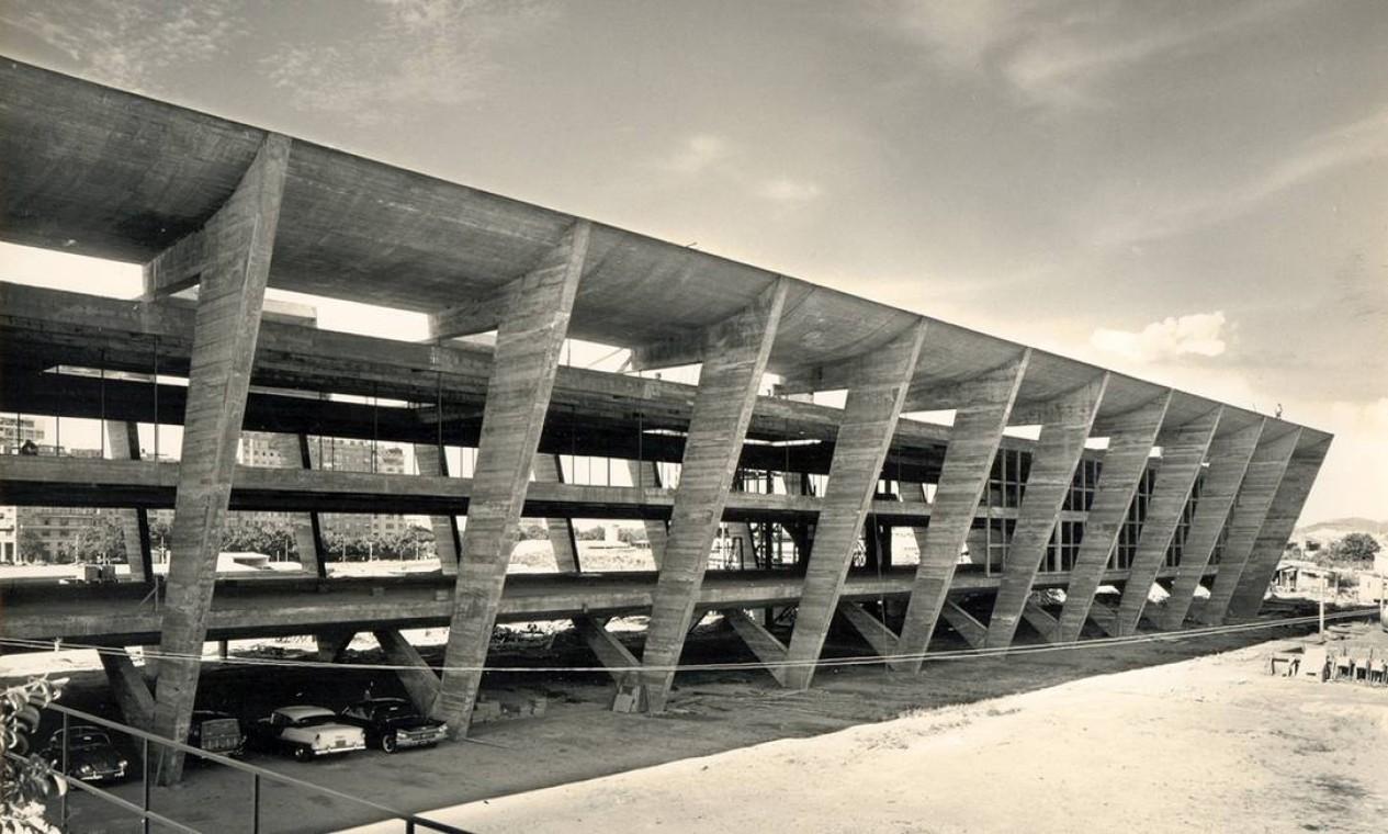 Museu de Arte Moderna do Rio, inaugurado em 1948 Foto: Acervo do Núlceo de Pesquisa e Documentação da Faculdade de Arquitetura e Urbanismo da UFRJ