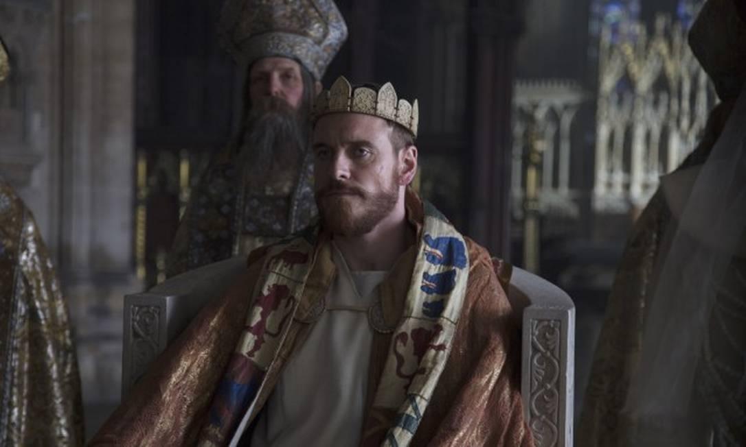"""""""Macbeth: ambição e guerra"""": Michael Fassbender, no papel-título, está arrasado Foto: Divulgação"""