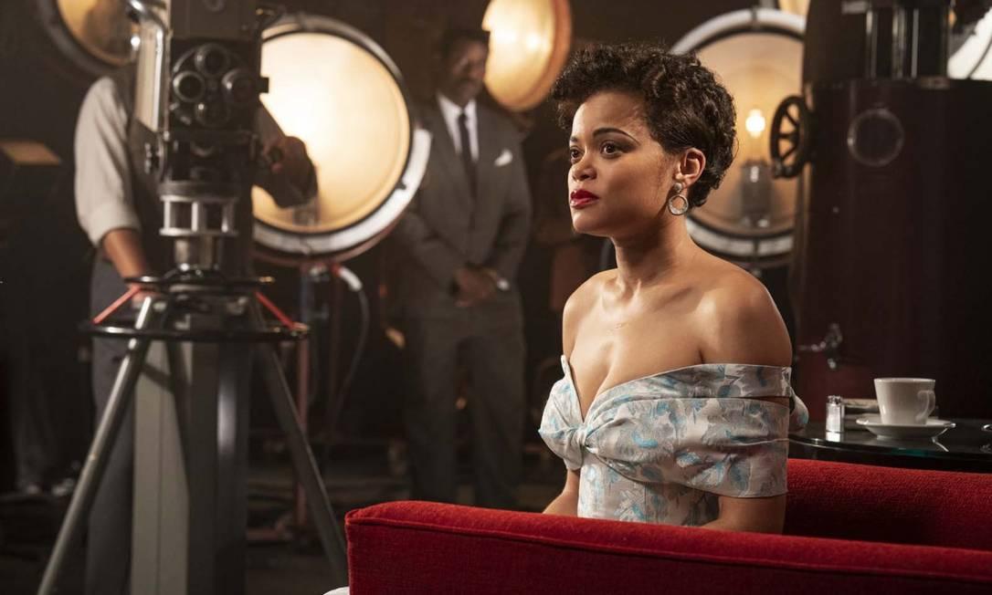 """Melhor Atriz: Andra Day vive Billie Holiday em """"Estados Unidos vs Billie Holiday"""" e soltou a voz no longa. Foto: Metropolitan FilmExport/Divulgação"""