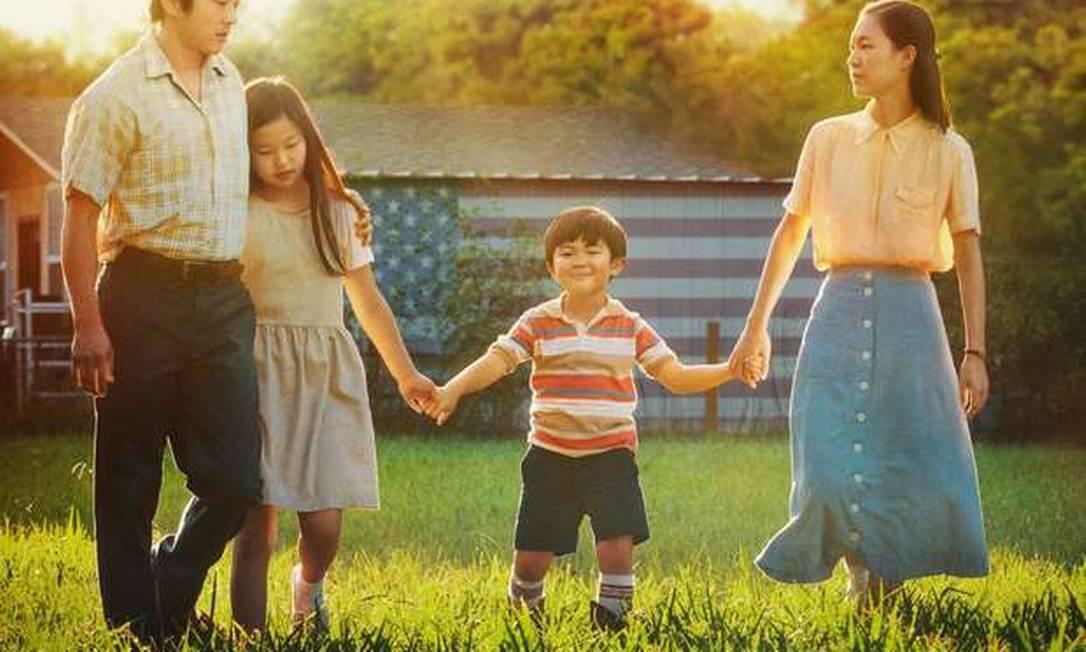 """Melhor filme: Em """"Minari"""", uma família coreano-americana se muda para uma fazenda no Arkansas em busca de seu próprio sonho americano. Em meio aos desafios dessa nova vida, eles descobrem a inegável resiliência da família e o que realmente faz um lar. Foto: Divulgação"""