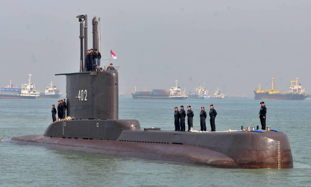 Foto de arquivo mostra o submarino KRI Nanggala-402 em Surabaya, na província de Java Foto: ANTARA FOTO / via REUTERS